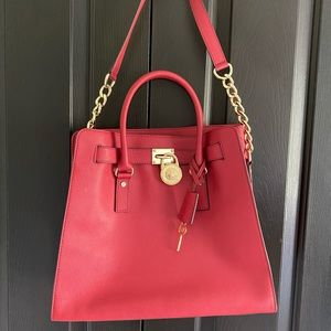 Michael Kors Chili Red Large Satchel Tote